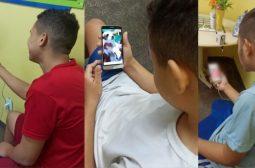 Sem visitas, adolescentes de centros socioeducativos do Amazonas conversam com familiares por videochamada
