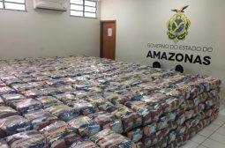 Sejusc recebe doação de mil cestas básicas de empresa do Polo Industrial de Manaus
