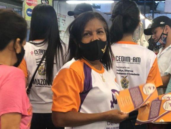 Sejusc leva campanha '16 dias de ativismo pelo fim da violência contra a mulher' ao Centro de Manaus