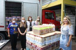 Sejusc recebe 540 itens de limpeza que irão compor kits de higiene para idosos em vulnerabilidade