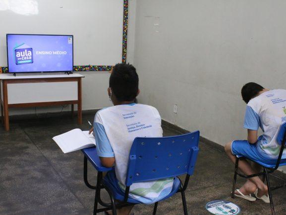 Doações possibilitam que sistema socioeducativo do AM tenha acesso às aulas